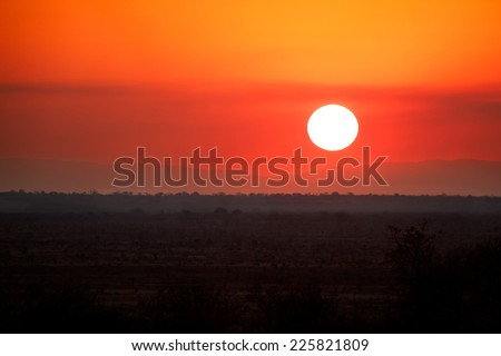 African sunset. - stock photo
