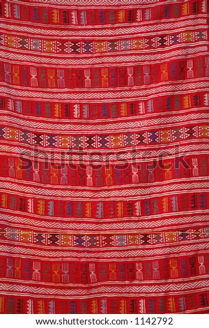 African textile - stock photo