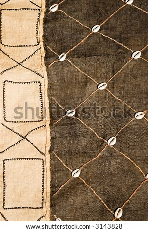 African textile material hessian, design elements, vintage craft, background, - stock photo