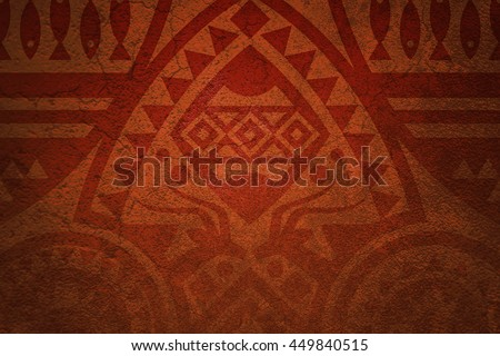 African Tribe Background - stock photo