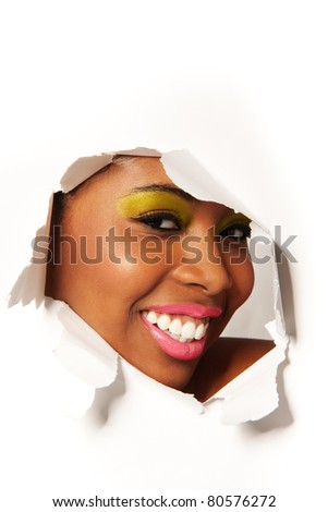 African woman - stock photo