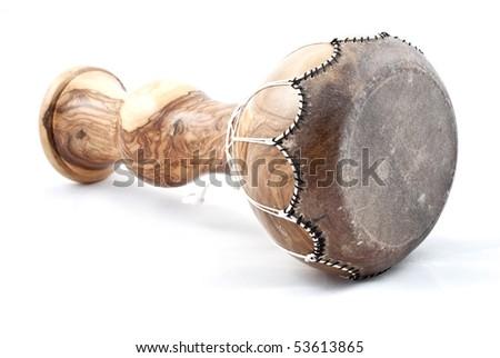 african wooden drum - stock photo