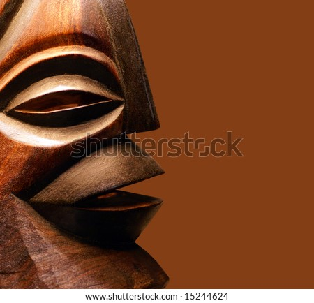 African wooden mask - stock photo