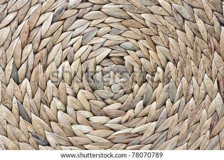 African woven round basket See my portfolio for more - stock photo