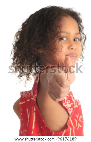 afro american beautiful girl with black curly hair isolated women metisse - stock photo
