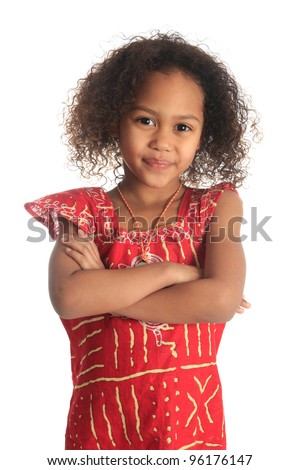 afro american beautiful girl with black curly hair isolated women metisse asian - stock photo