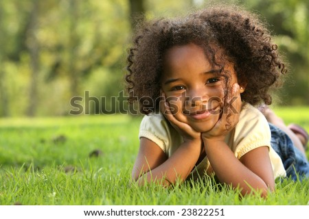 Afro Child - stock photo