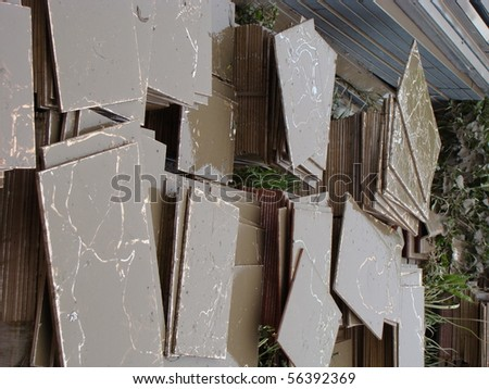after flood - stock photo