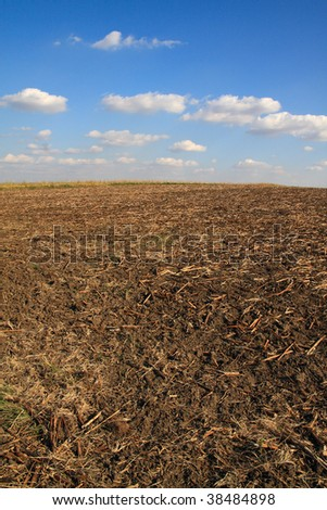 After Harvest Time - stock photo