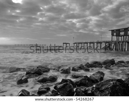 After Hurricane Ike - stock photo