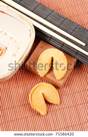 After Meal Fortune Cookies - stock photo