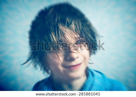 after showering - stock photo