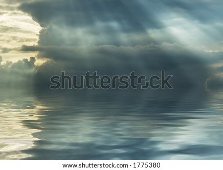 after storm - stormy cloud over ocean
