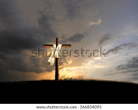 after the crucifixion - stock photo