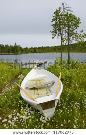 After the rain. Northern Finland - stock photo