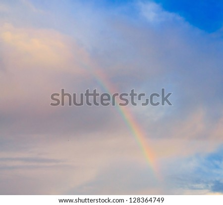 After the Storm Rain and Sunshine - stock photo