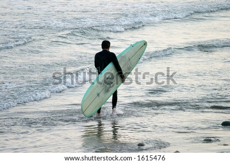 After work surfing - stock photo