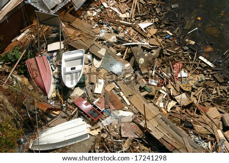 Aftermath of a storm - stock photo