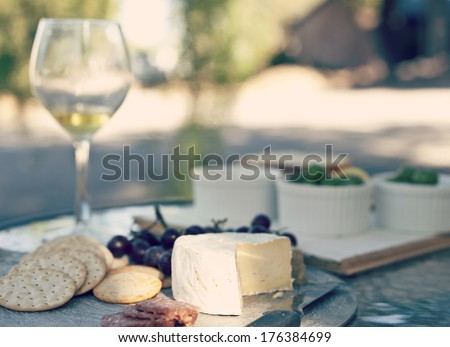 afternoon light, time for a wine - stock photo