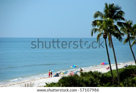 Afternoon on the Beach Sanibel Island Florida - stock photo
