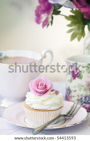 Afternoon tea - stock photo