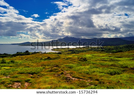 afternoon view of Bantry Bay, Co.Cork, Ireland - stock photo