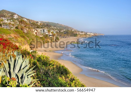 Afternoon View of Laguna Beach, California, USA - stock photo