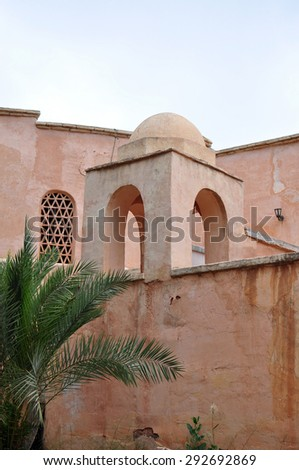 agadir city morocco medina landmark arab archway - stock photo