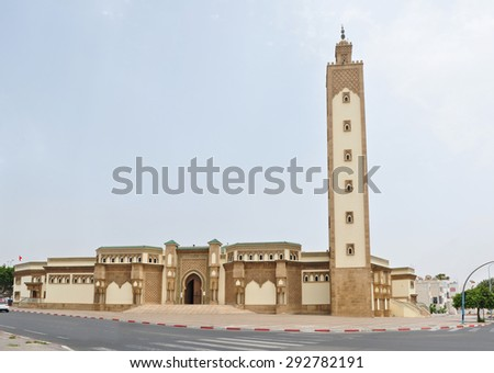 agadir city morocco Mohammed V Mosque landmark architecture - stock photo
