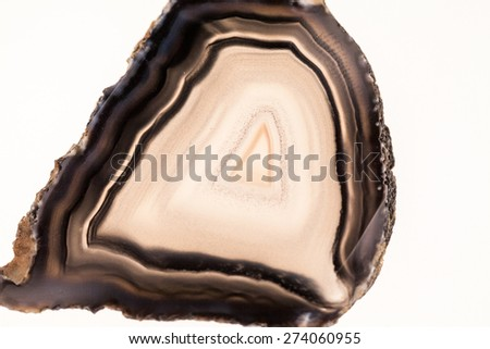Agate- beautiful, colorful slices and texture - stock photo