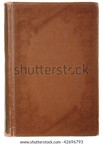 age-old book, isolated on a white background - stock photo
