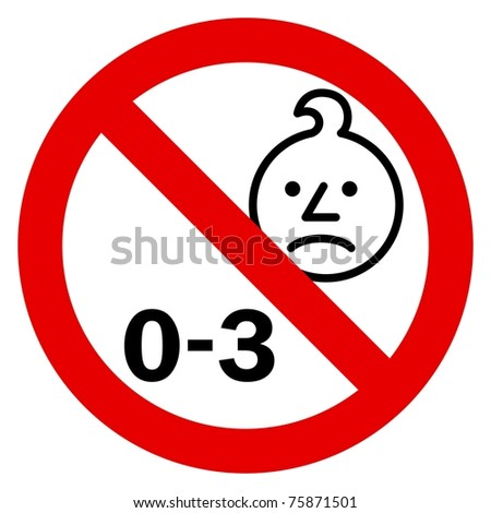 Age warning sign - stock photo