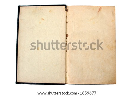 Aged Book from 1923 - stock photo