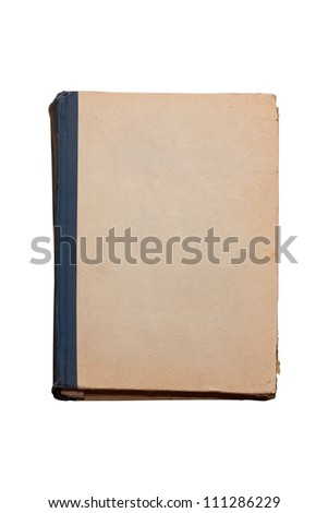 Aged book on white - stock photo
