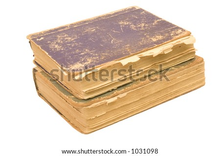aged books - stock photo