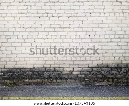 Aged brick wall background, texture - stock photo