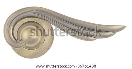 Aged Bronze Door handle Satin - stock photo