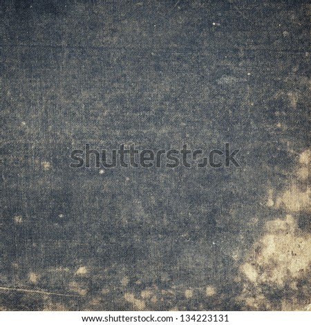 Aged canvas texture, old book cover - stock photo