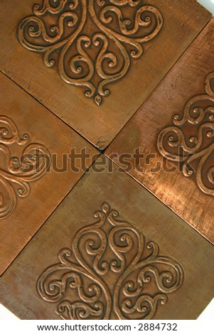 Aged Copper Tiles with Patina