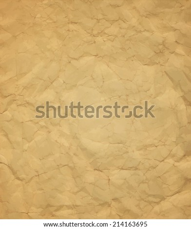 Aged crumpled paper