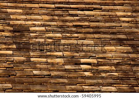 aged damaged roof tile - stock photo