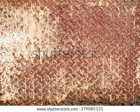 aged diamond metal texture pattern used as abstract background - stock photo