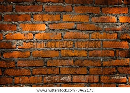 Aged dirty brick wall