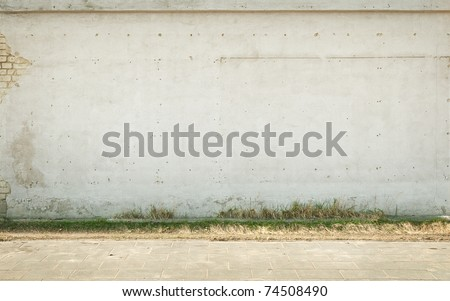 Aged empty  wall background, texture - stock photo