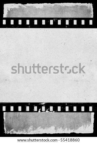 Aged film strip texture - stock photo