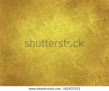 aged gold background paper with vintage grunge background texture, gold Christmas background paper - stock photo