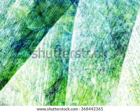 aged green textured abstract lines and waves background - stock photo