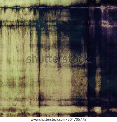 Aged grunge graphic background with shabby texture in vintage style and different color patterns: yellow (beige); brown; gray; blue; purple (violet); black