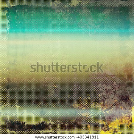Aged grunge graphic background with shabby texture in vintage style. With different color patterns: yellow (beige); brown; green; blue; gray - stock photo