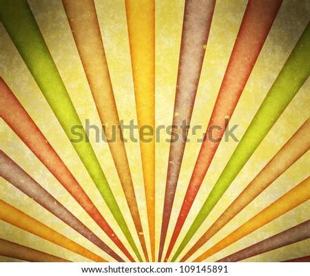 aged grunge sunburst - stock photo